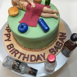 Bachelor Birthday Cake