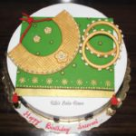 Saree and Jewellery theme cake