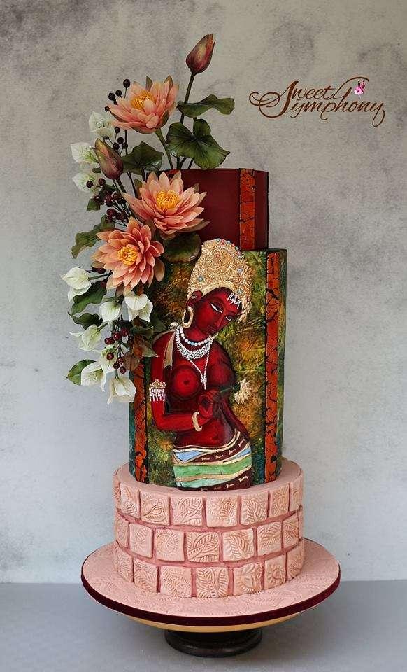 Arati-Mirji-Sugar-Flowers-Cake