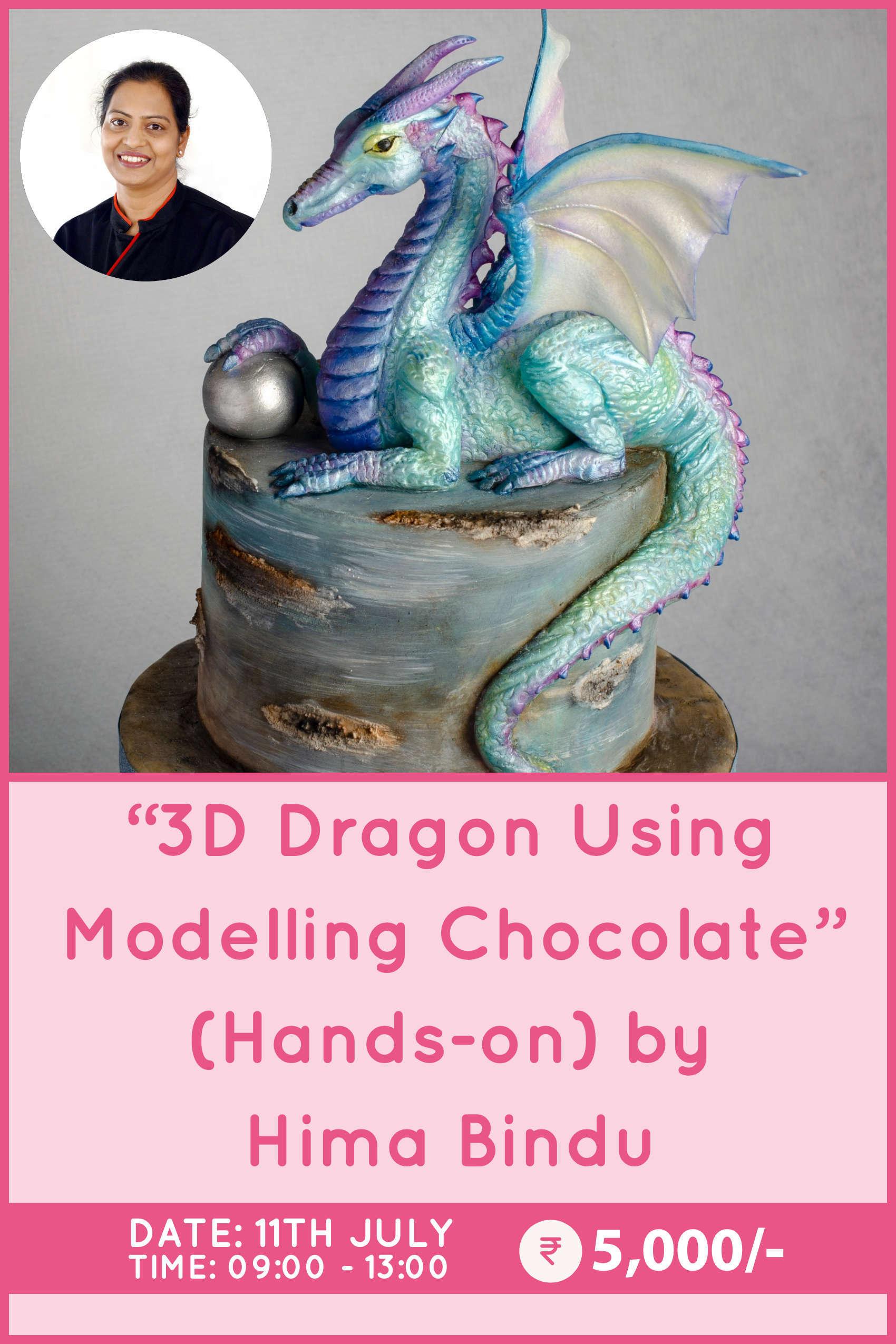 3D Dragon using Modelling Chocolate by Hima Bindu