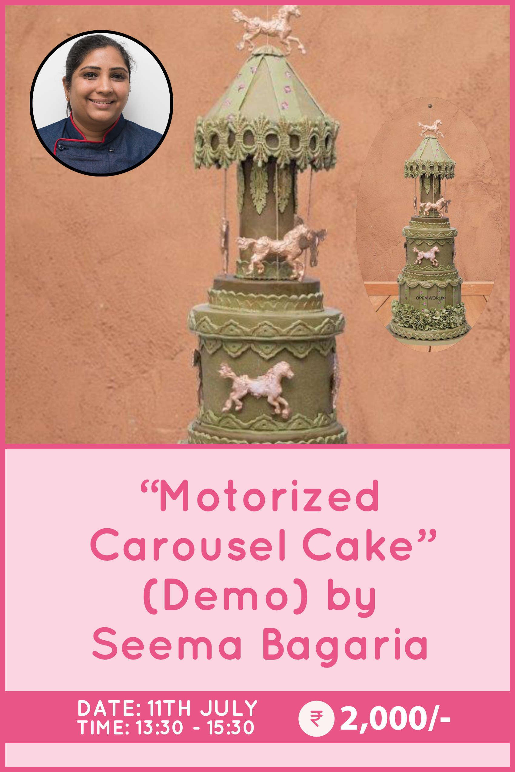 Motorised Carousel Cake by Seema Bagaria