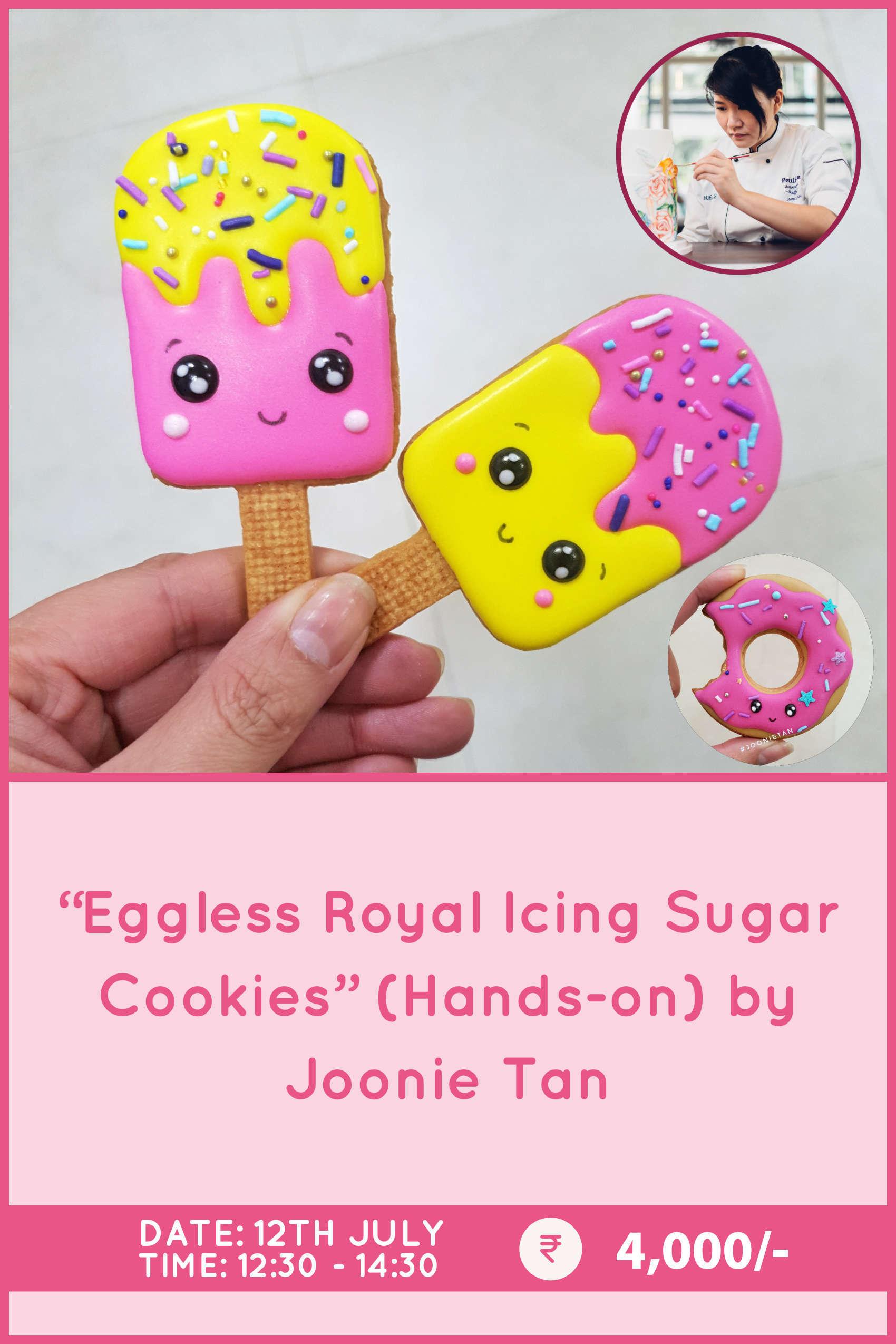 Eggless Royal Icing Sugar Cookies by Joonie Tan