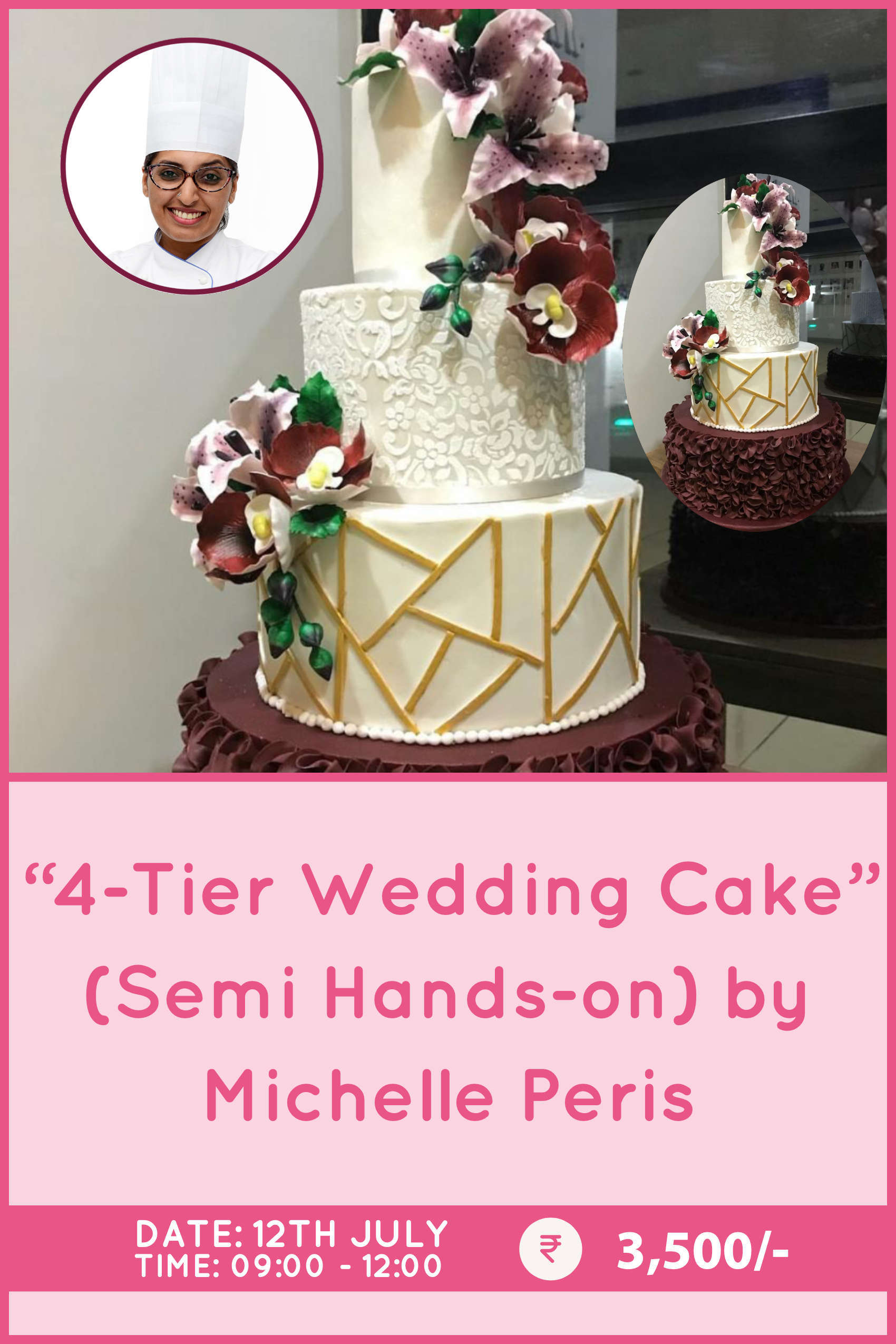 4-Tier Wedding Cake by Michelle Peris