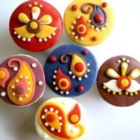 Cupcakes-Diwali-Indian-Motif