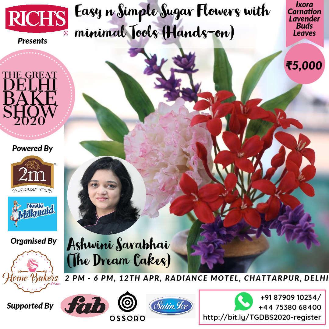 Ashwini Sarabhai - Sugar Flowers