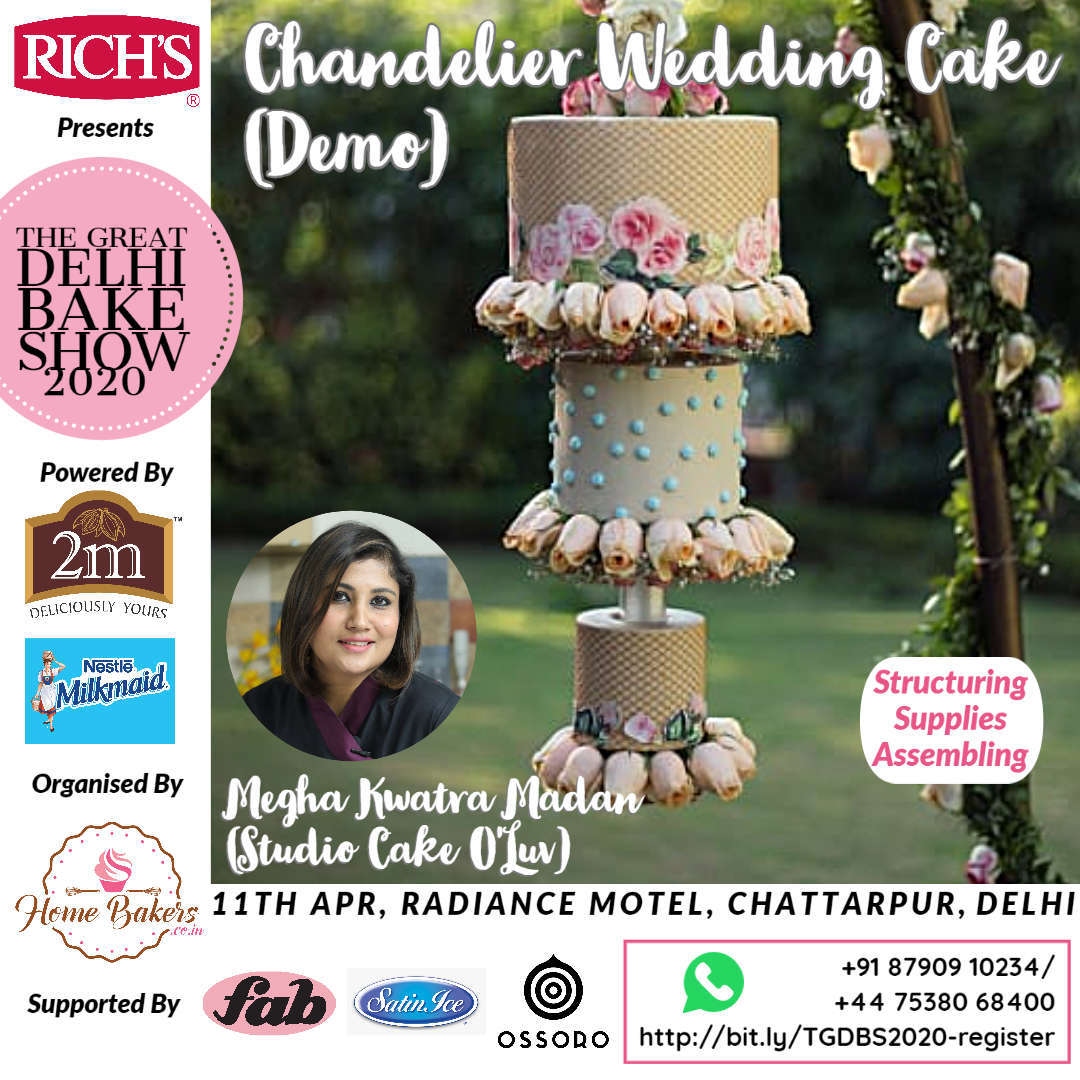 Megha Kwatra Demo - Chandelier Wedding Cake