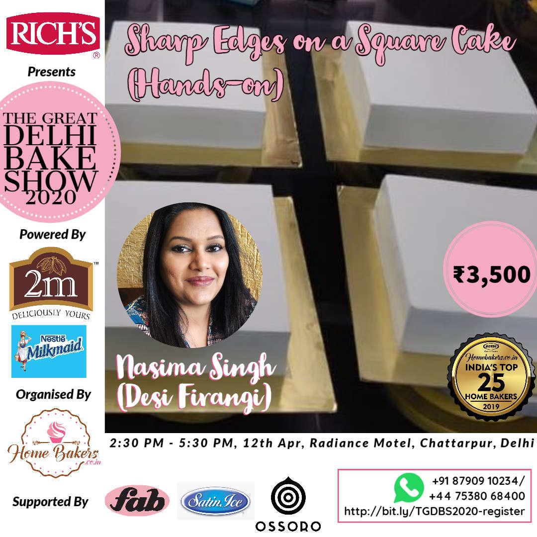 Nasima Singh - Sharp Edges on a square cake