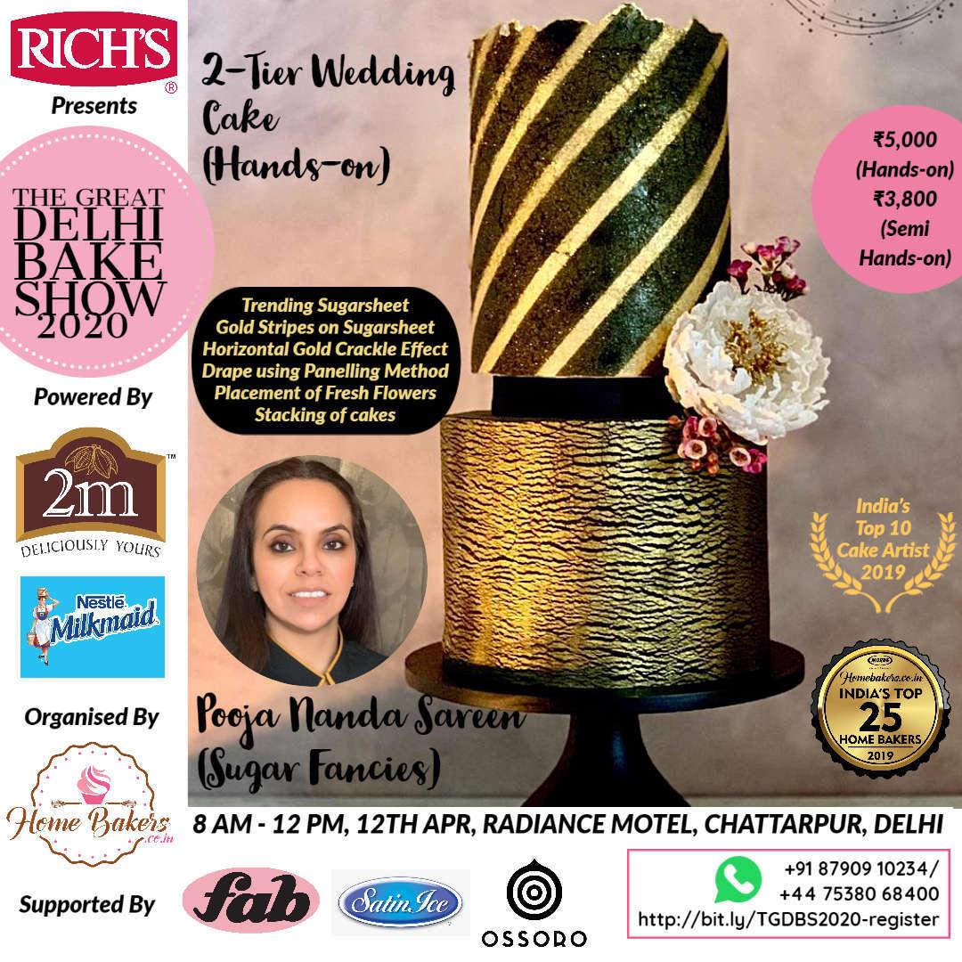 Pooja Nanda Sareen - 2-Tier Wedding Cake