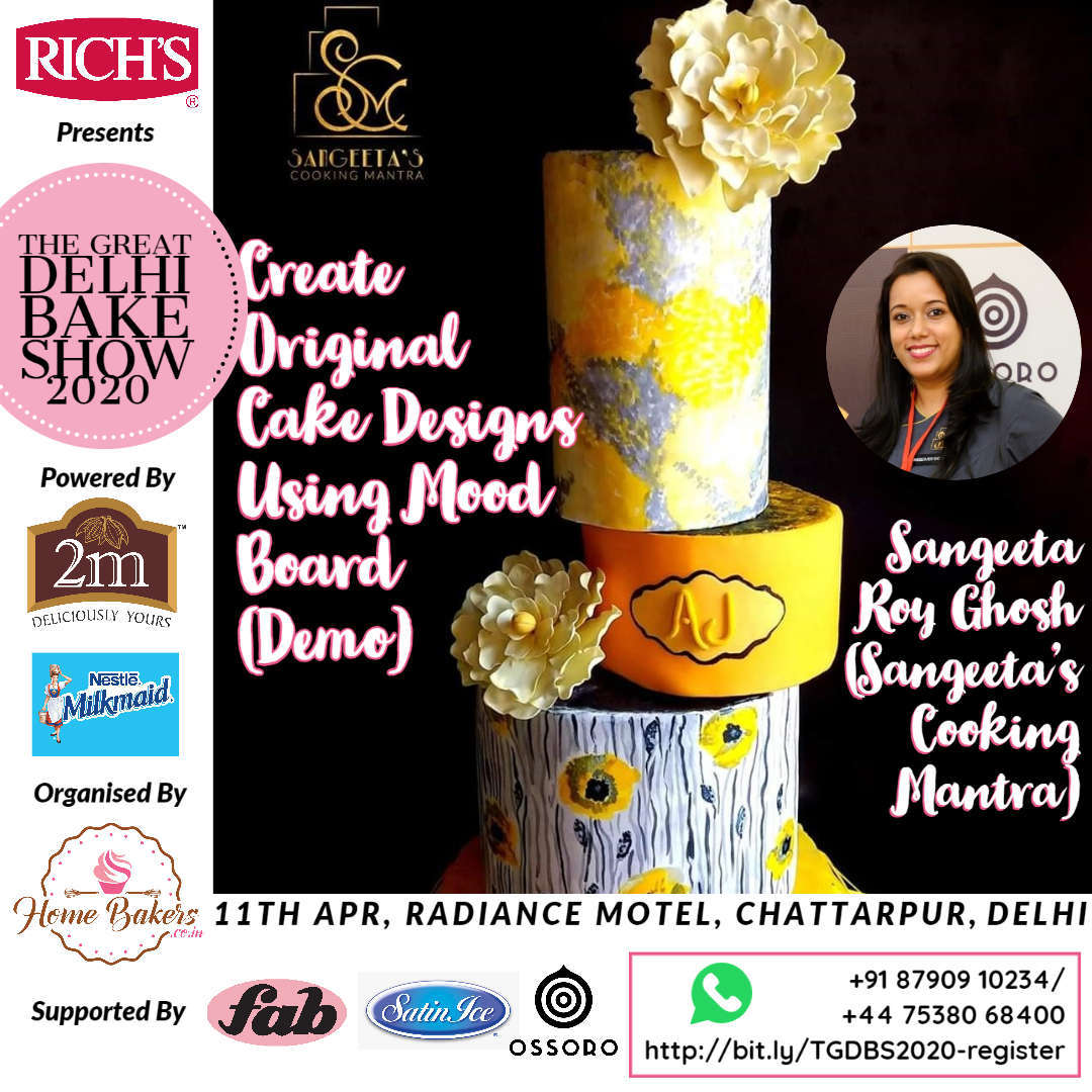 Sangeeta Roy Ghosh Demo - Design Your Cakes Using Mood Board