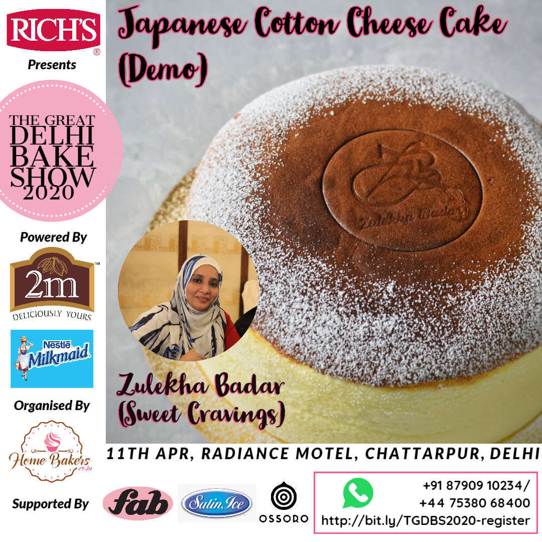 Zulekha Badar Demo - Japanese Cotton Cheese Cake