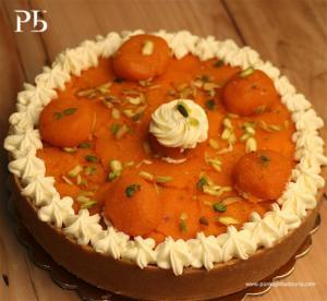 Motichoor Ladoo Cheesecake