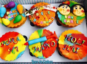 Holi Customised Cupcakes
