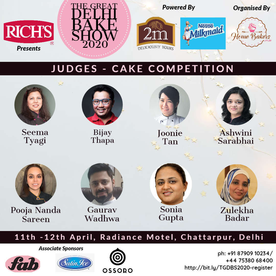 Delhi Cake Competition 2020 - Judges