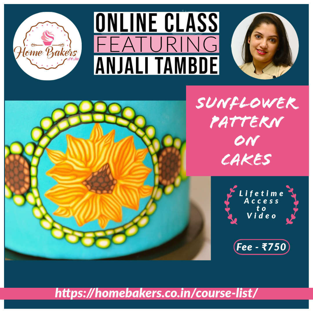 Sunflower Pattern On Cakes
