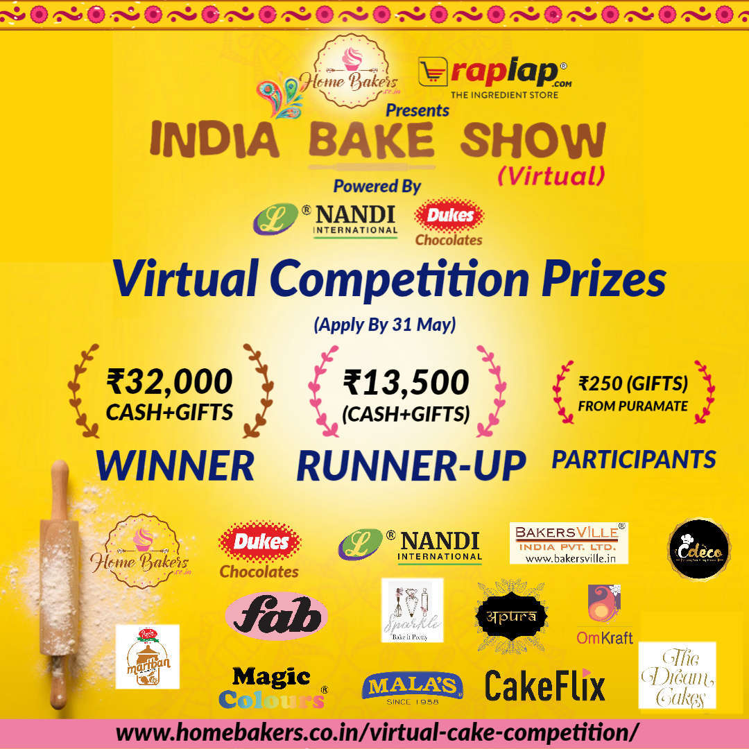India Bake Show (Virtual) Competition Prizes
