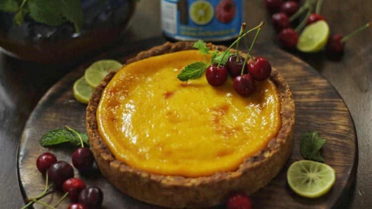Lemon Oat Tart by Smriti Iyer
