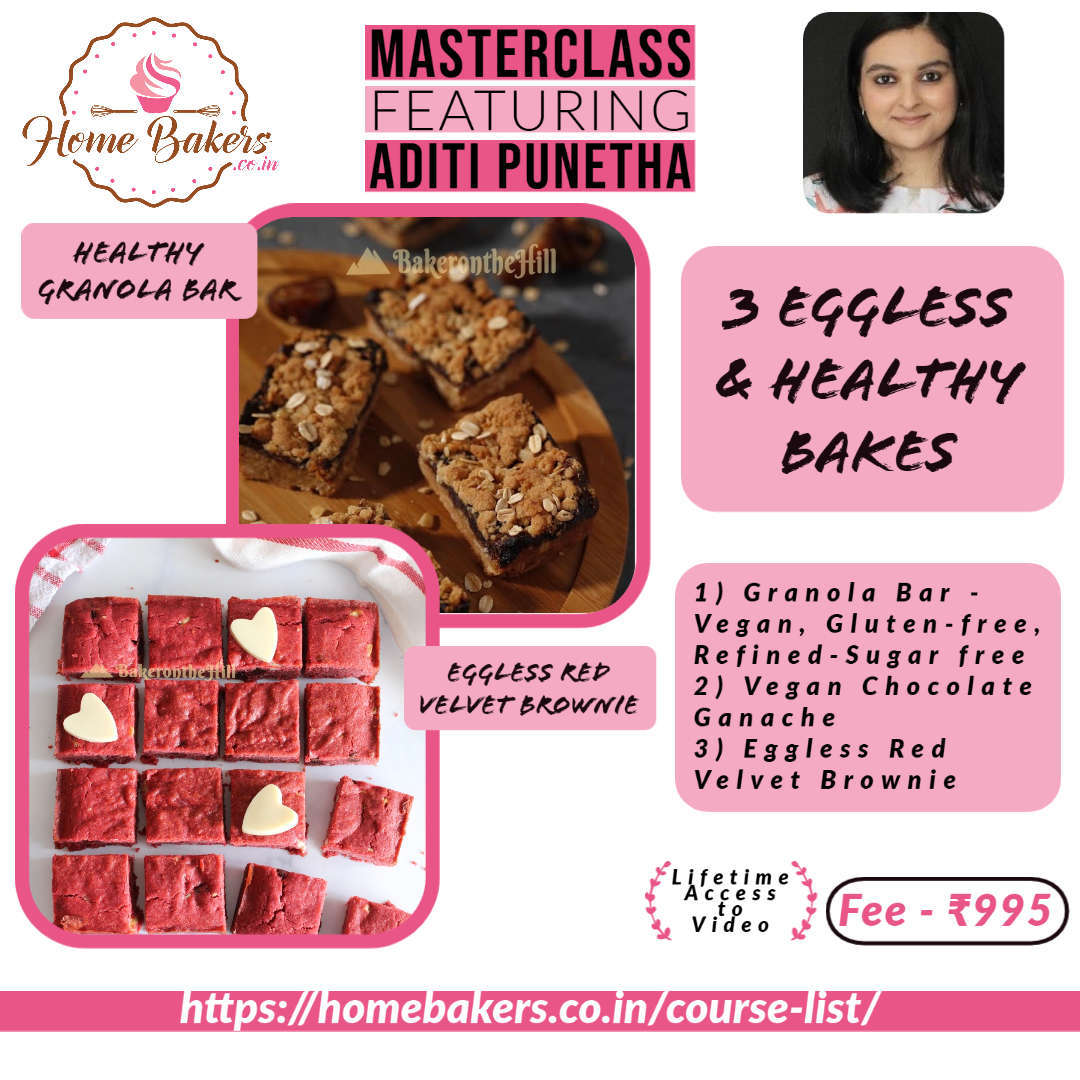 Eggless and Healthy Bakes