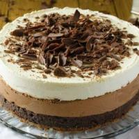 Mello Royale Baked Triple Chocolate Cheesecake