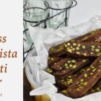 Eggless Cocoa Pista Biscotti
