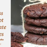 Eggless Apricot Chocolate Cookies