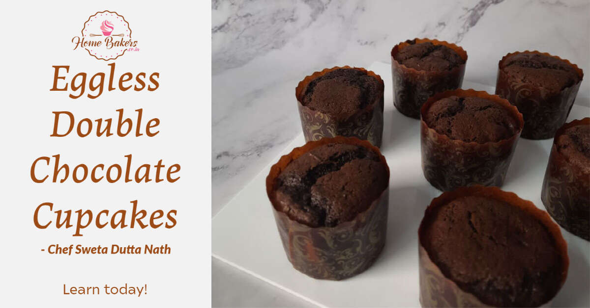 Eggless Double Chocolate Muffin