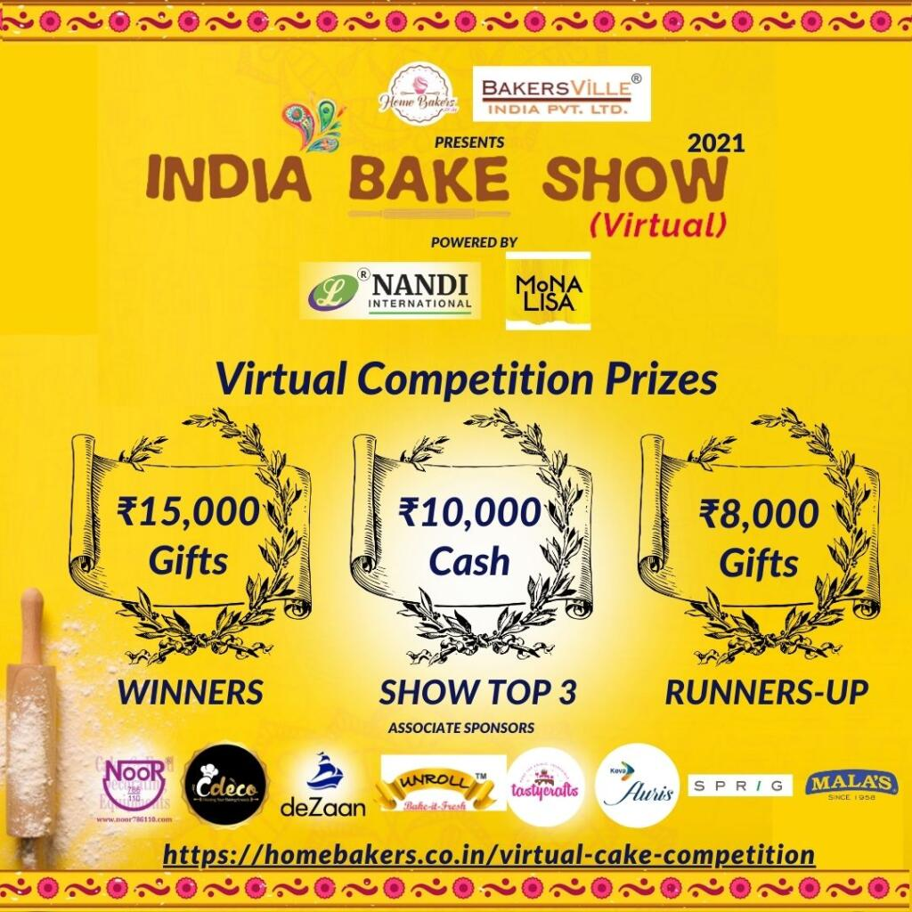 India Virtual Cake Competition Prizes 2021